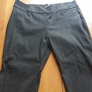 Dark Gray Subtle Varied Stripe Pants